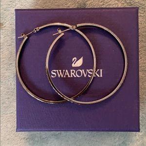 Swarovski crystal hoops